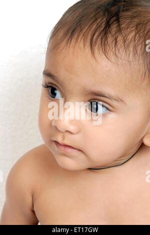 Baby boy ; Bombay Mumbai ; Maharashtra ; India MR#152 - Stock Photo