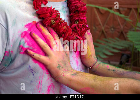 Holi festival ; Jodhpur ; Rajasthan ; India - Stock Photo
