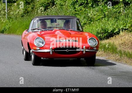 old red jaguar sports car stock photo royalty free image. Black Bedroom Furniture Sets. Home Design Ideas