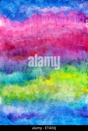 Watercolor blue background - Stock Photo