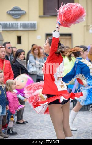 Legs of Majorette girls, dancing show Stock Photo, Royalty