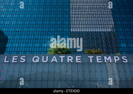 les quatre temps shopping mall and leisure complex in la defense stock photo royalty free. Black Bedroom Furniture Sets. Home Design Ideas