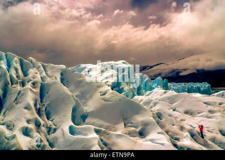 Perito Moreno Glacier, Lago Argentino, Santa Cruz, argentina - Stock Photo