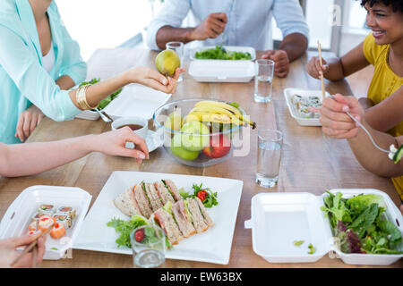 Business people having lunch - Stockfoto