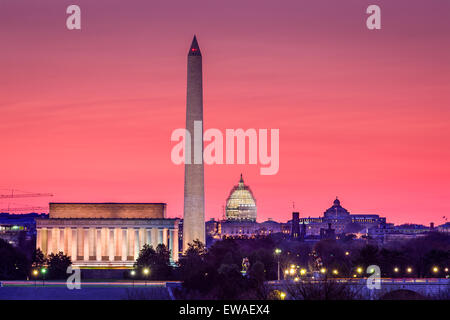 Washington DC, USA skyline. - Stock Photo