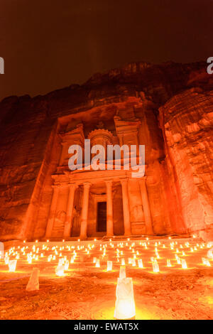 Petra at night - Stock Photo