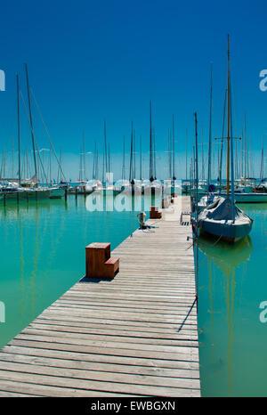 Lake Balaton Summer Holiday Hungary Stock Photo