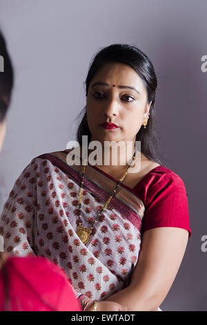 1 indian Housewife Woman Stress - Stockfoto