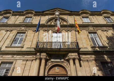 Market Place, Town Hall, Hotel de Ville,  Aix-en-Provence - Stock Photo