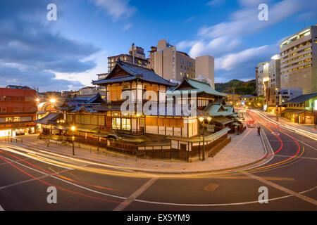 Matsuyama, Japan at Dogo Onsen. - Stock Photo