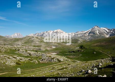 Campo Imperatore, Parco Nazionale del Gran Sasso e Monti della Laga, Abruzzo, Italy - Stock Photo