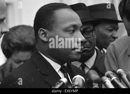 Martin Luther King, Jr. (1929-1968) was an American Baptist minister, activist, humanitarian and leader in the African - Stock Photo