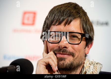 Karlovy Vary, Czech Republic. 9th July, 2015. Director Diego Ongaro arrived at the 50th International Film Festival - Stock Photo