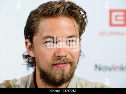 Karlovy Vary, Czech Republic. 9th July, 2015. Actor Jakob Oftebro arrived to present the film Gold Coast by director - Stock Photo