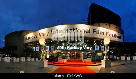 Karlovy Vary, Czech Republic. 9th July, 2015. Atmosphere at the 50th Karlovy Vary International Film Festival in - Stock Photo