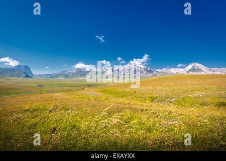 Gran Sasso National Park in Abruzzo, Italy - Stock Photo