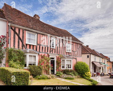 Half timbered house in Lavenham, Suffolk, England. - Stock Photo