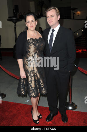 LOS ANGELES, CA - JANUARY 29, 2011: Christopher Nolan, director of Inception, at the 63rd Annual Directors Guild - Stock Photo