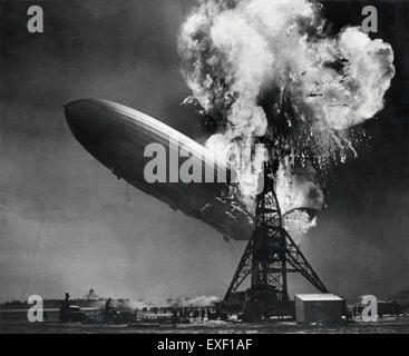 Zeppelin-ramp de Hindenburg  Hindenburg zeppelin disaster - Stockfoto