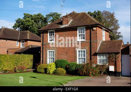 Link detached house in Welwyn Garden City - Stock Photo