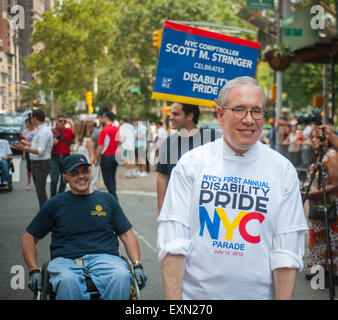 New York City Comptroller Scott Stringer in New York at the First Annual Disability Pride Parade on Sunday, July - Stock Photo
