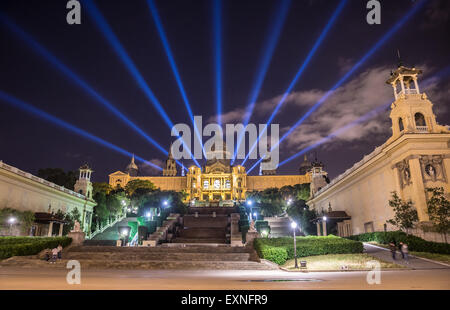 National Art Museum of Catalonia (Museu Nacional d'Art de Catalunya - MNAC) in Barcelona, Spain - Stock Photo