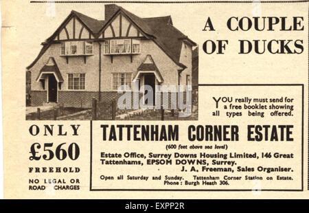 1930s uk new homes magazine advert stock photo - New Home Magazines