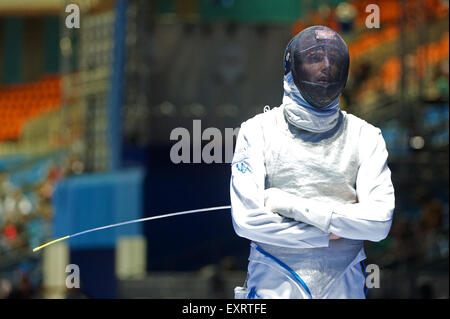 Moscow, Russia. 16th July, 2015. Andrea Cassara of Italy during the competition with Radu Daraban of Romania, the - Stock Photo