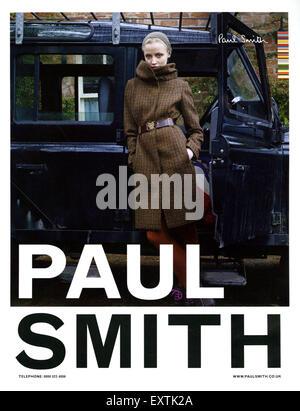 2010s UK Paul Smith Magazine Advert - Stock Photo