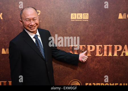 Moscow, Russia. 16th July, 2015. The director John Woo attends the premiere of his movie 'The Crossing' in Moscow, - Stock Photo