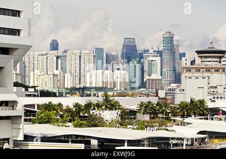 Skyline, Singapur City, Singapur, Asia - Stock Photo