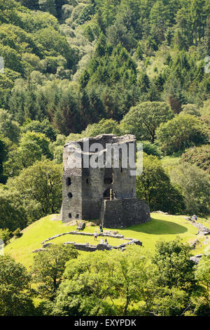 Dolbadarn Castle in Llanberis, Snowdonia. - Stock Photo