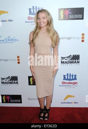 Los Angeles, California, USA. 20th July, 2015. Elise Luthman at arrivals for THAT SUGAR FILM Premiere, Harmony Gold - Stock Photo