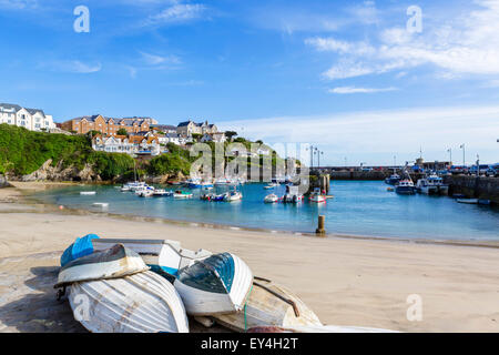 The harbour in Newquay, Cornwall, England, UK - Stock Photo