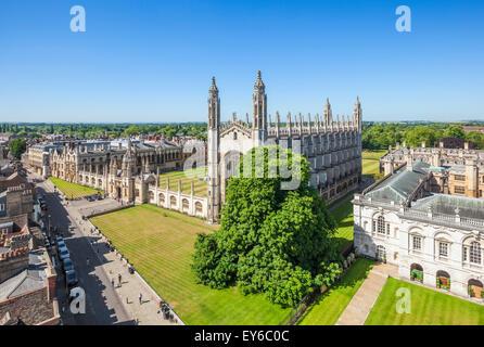 Kings college chapel and kings college Cambridge university Cambridgeshire England UK GB EU Europe - Stock Photo