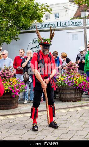 Warwick Folk Festival 2015 Morris dancers - Stock Photo