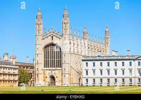 Kings College Chapel from the Backs Cambridge University Cambridgeshire England UK GB Europe - Stock Photo