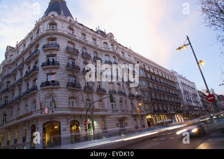 Speed lights in the city (Madrid, Spain Stock Photo ...