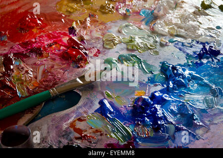 Painters oil palette - Stockfoto