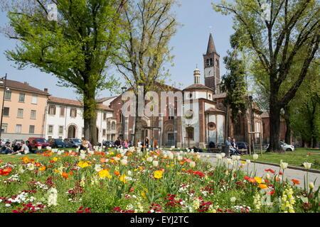 Sant eustorgio basilica milan italy stock photo for Piazza sant eustorgio