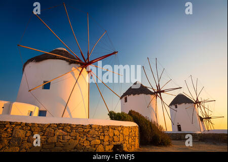 Mykonos windmills - The windmills are a defining feature of the Mykonian landscape. - Stock Photo