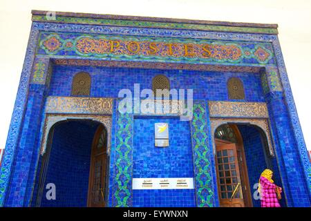 Art Nouveau Post Office Building exterior dating from 1919, Casablanca, Morocco, North Africa, Africa - Stock Photo
