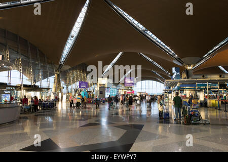 Interior of terminal building, Kuala Lumpur International Airport, Malaysia, Southeast Asia, Asia - Stock Photo