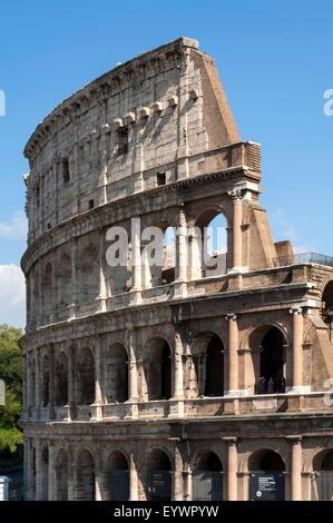 Colosseum, Ancient Roman Forum, UNESCO World Heritage Site, Rome, Lazio, Italy, Europe - Stock Photo
