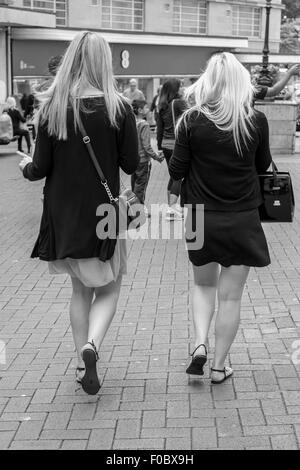 Tourists walking through Bournemouth - Stock Photo