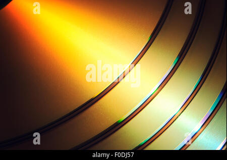 DVD Blue Ray CD Background - Stock Photo