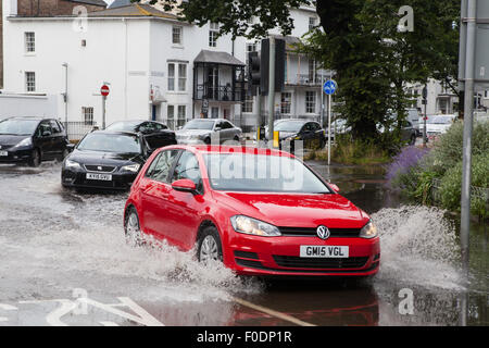 cars drive through a flooded street in chemnitz germany 31 may stock photo royalty free image. Black Bedroom Furniture Sets. Home Design Ideas