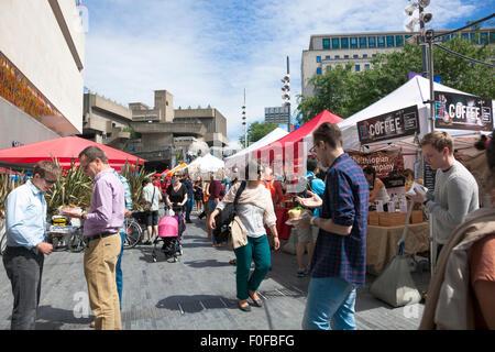 Southbank Centre Market by Royal Festival Hall, London, UK - Stock Photo