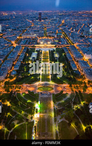View from the Eiffel Tower in Paris - Stock Photo