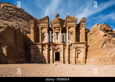El Deir, The Monastery, Petra, Jordan. - Stock Photo